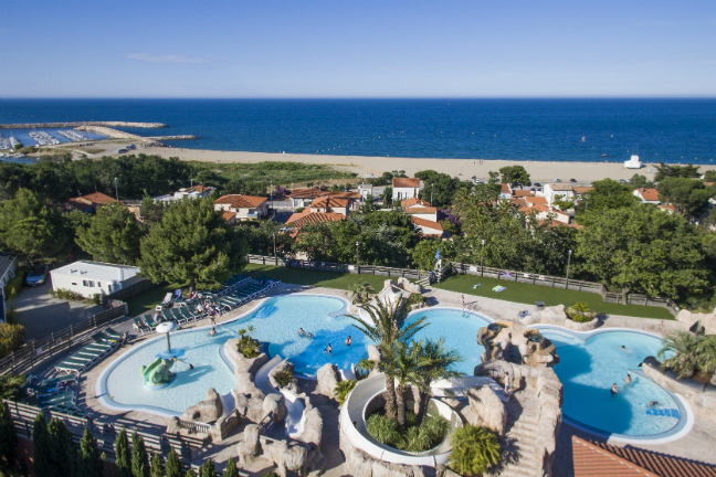 Camping l'Hippocampe is een kleinere camping in Languedoc-Roussillon.